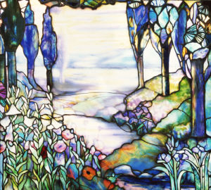 River Landscape Window by Tiffany Studios