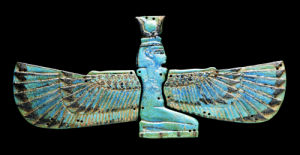 An Egyptian Turquoise Glazed Composition Pectorial In The Form Of A Winged Isis, Circa 1000 B.C. by Christie's Images