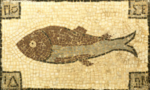 A Roman Mosaic Panel Depicting A Fish, Circa 5th Century A.D by Christie's Images