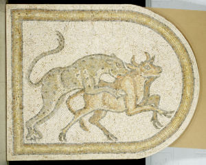 A Leopard Attacking A Bull. C. 5th Century A.D. by Christie's Images