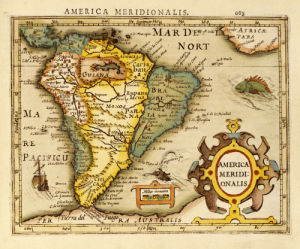 Map Of South America. Atlas Minor, 1610 by Christie's Images