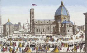 A View Of The Cathedral Church Of Florence And The Grand Procession Of The Host, 1740 by Christie's Images
