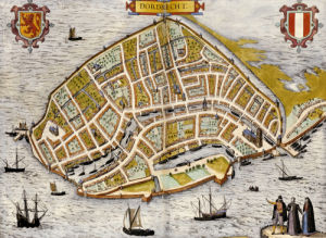 Map Of The City Of Dordrecht, 1582. by Christie's Images