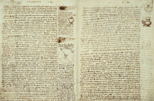 Codex Hammer Pages 124-127 by Leonardo da Vinci