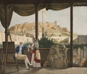 A View Of The Acropolis From The The French Consul, M. Fauvwel's House, 1825 by Louis Dupre