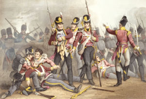 The Buffs At The Battle Of Albuera, 1819 by M. Dubourg