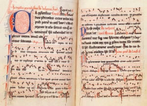 Psalter, Fully Noted, With Hymnal For The Temporal And Sanctoral, Ca.1300. by Christie's Images