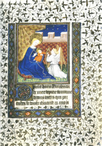 Angel Playing A Harp To The Virgin Holding The Child, Ca.1450 by Christie's Images