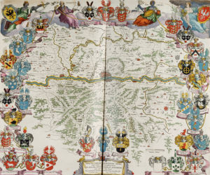 A Map Of Germany Centred On Frankfurt, 1667 by Willem Janszoon Blaeu