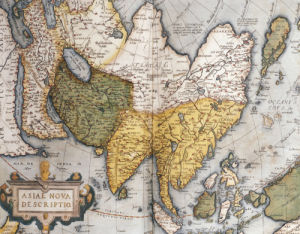 Asiae Nova Descriptio, Map Of Asia, 1612 by Abraham Ortelius