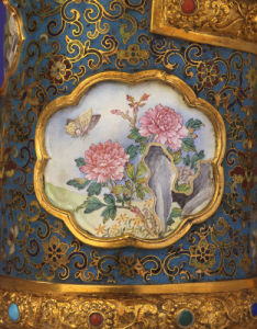 Detail Of An Enamel Cartouche From A Magnificent Imperial Gold by Christie's Images
