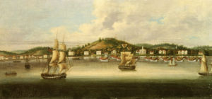 A View Of Singapore From The Roads, With A Merchant Barque, C. 1847 by Christie's Images