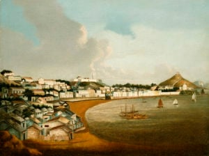 View Of The Praya Grande, Macao, Looking North, Circa 1830 by Christie's Images