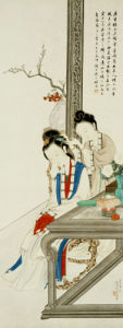 Two Court Ladies by Hu Xigui