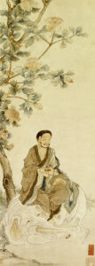 Bodhisattva Pu Xian Seated On A White Elephant by Luo Ping