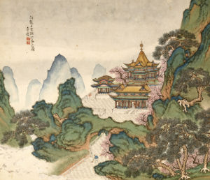 Blue And Green Landscapes. From An Album Of Ten Leaves by Li Qing