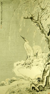 White Egrets On A Bank Of Snow Covered Willows, 1767 by Huang Shen