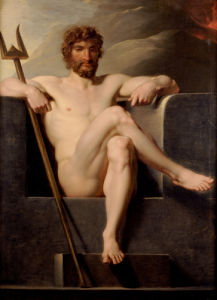 Poseidon Enthroned by Friedrich Heinrich Fuger