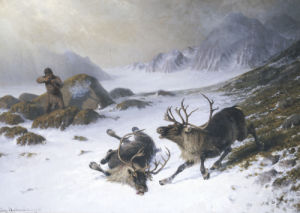 Shooting Reindeer by Ludwig Beckmann
