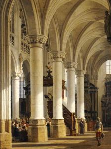 A Church Interior by Heinrich Hansen