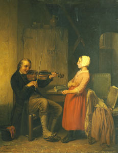 The Fiddler by Napoleon Francois Ghesquiere
