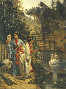 In A Japanese Garden by Edouard Castres