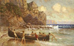 On The Beach After The Storm by Alexander Von Suckow