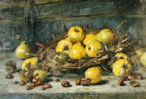 A Basket Of Pears With Chestnuts, 1894 by Eugeen Joors