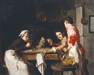 The Young Card Players by Joseph Bail