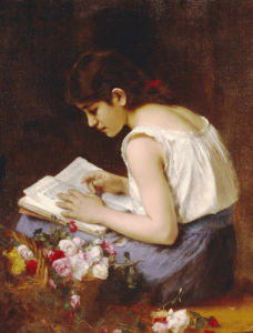A Girl Reading by Alexei Alexeiewitsch Harlamoff