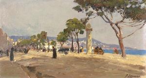 Promenade Des Anglais by Fausto Zonaro