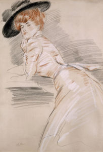Madame Helleu in a Hat. Madame Helleu Au Chapeau by Paul-Cesar Helleu