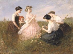 The Flower Garland by Charles Edouard de Beaumont