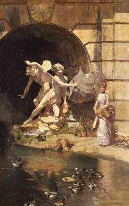 Feeding The Ducks by Ernest Giroux