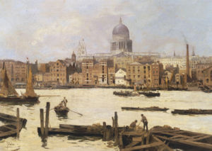 A View Of St. Paul's From The Thames by Paolo Sala