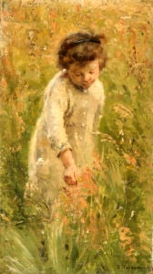 Picking Flowers by Bertha Wegmann