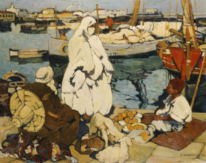 The Port Of Algiers, 1924 by Leon Cauvy