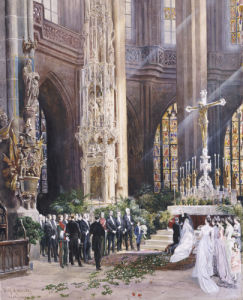 A Wedding, Jacobi Church, Nuremberg, 1928 by Wilhelm Ritter