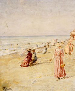 La Plage, Ostende by Alfred Sisley