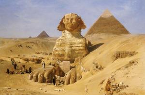 Excavation Of The Sphinx, 1887 by Ernst Karl Eugen Koerner