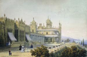 Vorontsov Palace At Alupka, Yalta, Crimea, 1843 by Carlo Bossoli