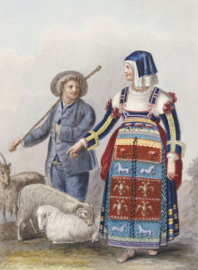 Costume Studies, 1818 by Xavier Della Gatta