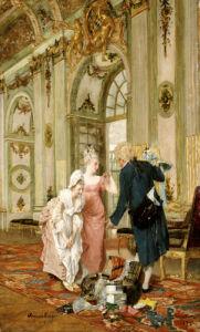 The Visiting Salesman, 1878 by Caspar Augustin Geiger