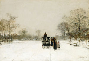 In The Snow. Dans La Neige by Luigi Aloys-François-Joseph Loir