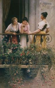 The Balcony by Eugene von Blaas