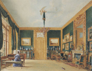 The Green Drawing Room Of The Earl Of Essex At Cassiobury by William Henry Hunt