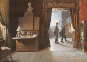 The Critic In The Artist's Studio by Michael Therkildsen