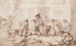 Labourers Putting Down A Pavement by Thomas Rowlandson