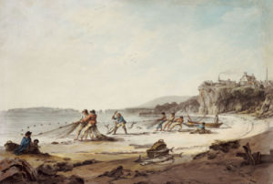 A Drawnet At Tenby, 1795 by Julias Caesar Ibbetson