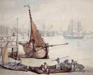 Low Tide At Greenwich, c.1817 by Thomas Rowlandson
